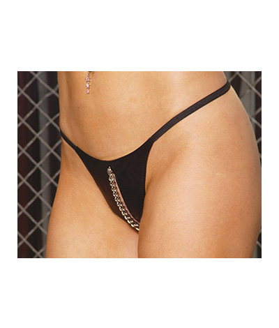 Leather Peek-A-Boo G-string L78002