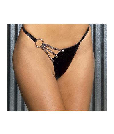 Leather G-string L78004
